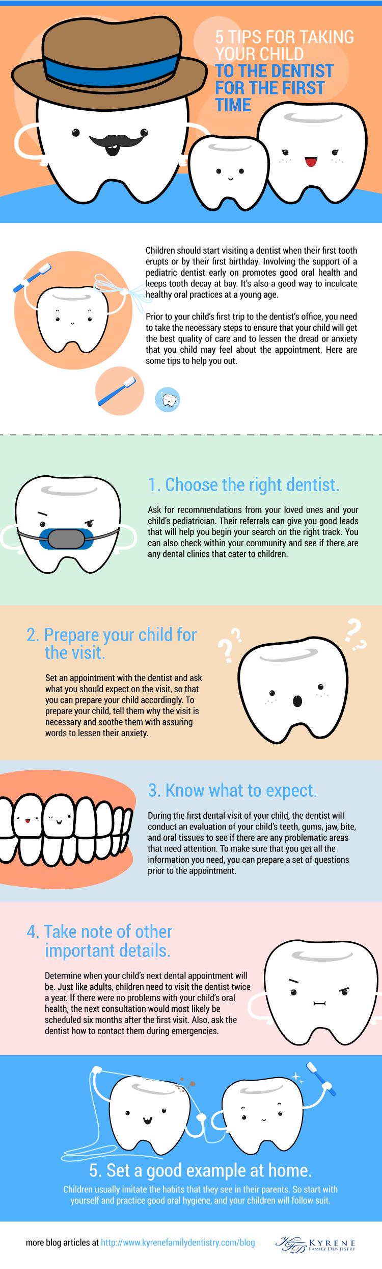 5 Tips for Taking your Child to the Dentist for the First Time Infographics