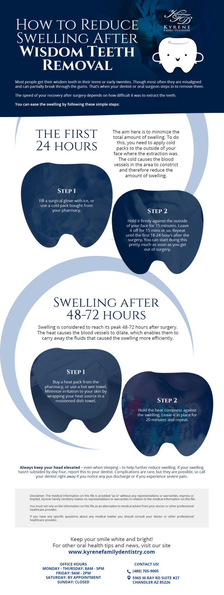 Swelling Reduction After Tooth Extraction Infographics