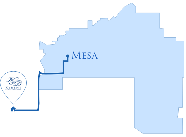 Map Directions From Mesa AZ
