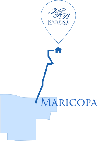 Directions from Maricopa Map